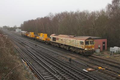 66721 Worting Junction 31/12/20 3Y88 Totton Yard to Totton Yard via Woking
