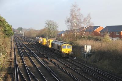66708 Worting Junction 29/12/20 3Y88 Totton Yard to Totton Yard via Woking