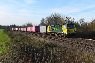 1 December 2020 :: 70019 was today working 4M55 from Southampton to Lawley Street and seen at Mortimer