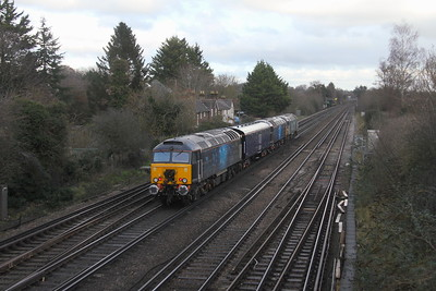 57312 Worting Junction 05/12/20 5M57 Eastleigh to Derby RTC