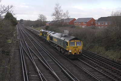 66552 Worting Junction 05/12/20 4O27 Crewe to Southampton with 70005