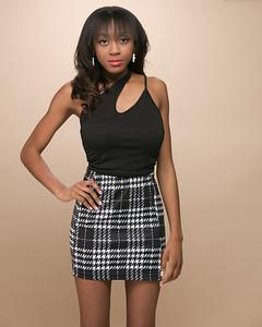 Plaid Skirt-1