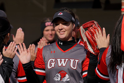 GWU softball plays North Carolina Central. First game of their double header.