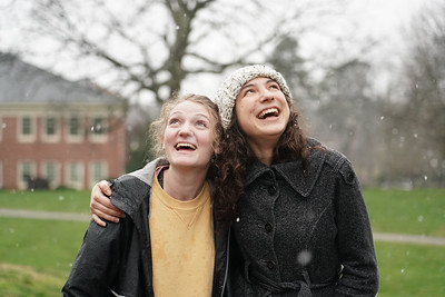 Gardner-Webb students enjoy some time in the snow falling on the afternoon of Feb. 20, 2020 on campus.