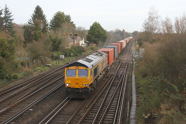 66710 Worting Junction 21/02/20 4O23 Trafford Park to Southampton Western Docks