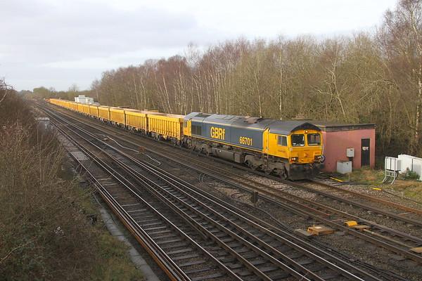 66701 Worting Junction 21/02/20 6M26 Eastleigh to Mountsorrel