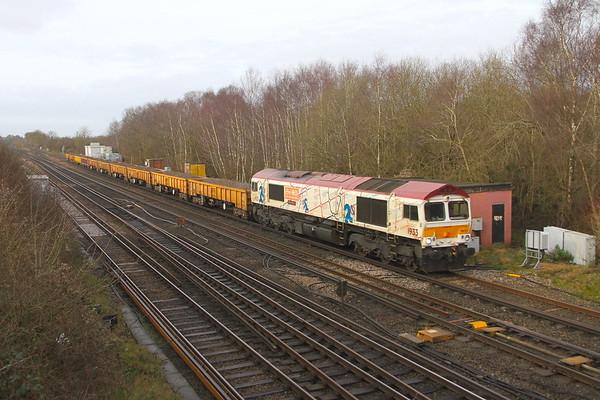 66721 Worting Junction 21/02/20 6Y48 Eastleigh to Hoo Junction