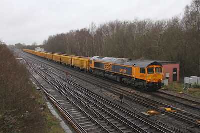 66781 Worting Junction 28/02/20 6M26 Eastleigh to Mountsorrel