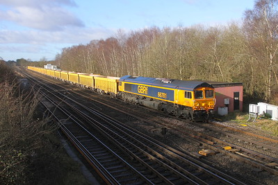 66781 Worting Junction 26/02/20 6M26 Eastleigh to Mountsorrel