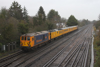 73965 Worting Junction 19/02/20 on the rear of 1Q53 Eastleigh to Eastleigh led by 73962