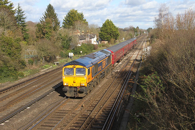 "66762 Worting Junction 27/02/20 5Z12 West Ruislip to Eastleigh with LT 4TC,  Observation Car LT45029 and No12 ""Sarah Siddons"""