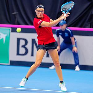 01.03a Kirsten Flipkens - Fedcup Belgium Kazakhstan 2020