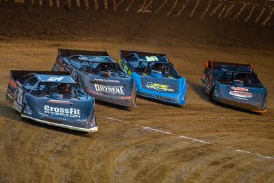 Brandon Overton (76), Ricky Weiss (7), Colton Horner (56JR) and Josh Rice (11R)