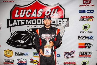 Lucas Oil Slick Mist Fast Time Award winner Brandon Overton