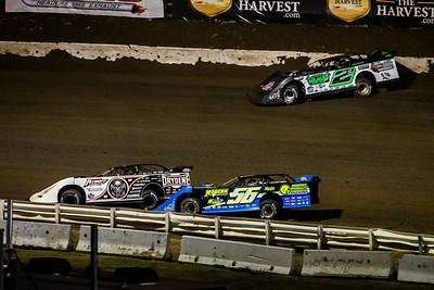 Scott Bloomquist (0), Colton Horner (56JR) and Stormy Scott (2S)