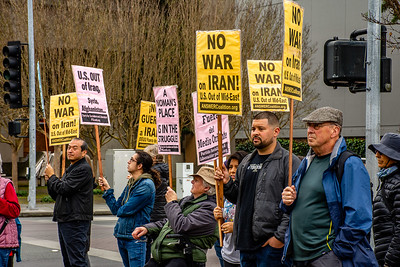 No War in Iran Santa Rossa  Bill Clark-18