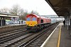24 January 2020 :: 66082 is passing Eastleigh with 4O39 from Cowley to Southampton