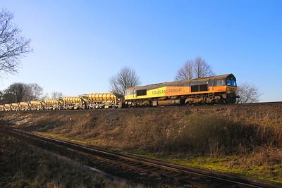 66846 Battledown 21/01/20 6V27 Eastleigh to Hinksey