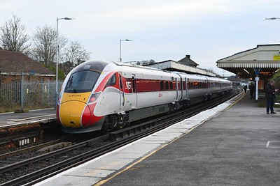27 January 2020 :: LNER 801 225 at Basingstoke on 5X98 from Eastleigh to Acton Main Line