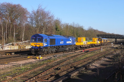 66727 Basingstoke 21/01/20 3Y88 Totton Yard to Toton Yard via Woking with 66717 on the rear
