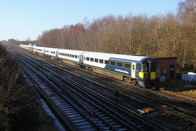 2414 Worting Junction 21/01/20 diverted 9P34 Portsmouth Harbour to Waterloo with 2420