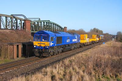 66727 Battledown 18/01/20 3Y88 Totton Yard to Totton Yard via Basingstoke with 66717