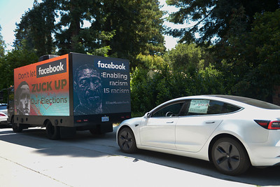 Mobile Billboard Protest of Facebook
