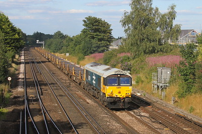 66789 Worting Junction 21/07/20 6X01 Scunthorpe to Eastleigh