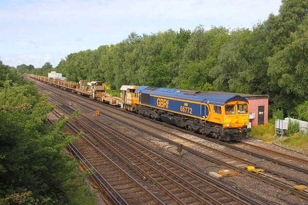 66772 Worting Junction 07/07/20 6Y48 Eastleigh to Hoo Junction