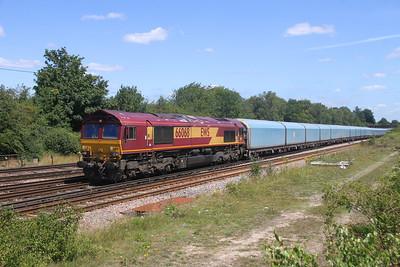 66068 Worting Junction 20/07/20 4O40 Morris Cowley to Southampton Eastern Docks