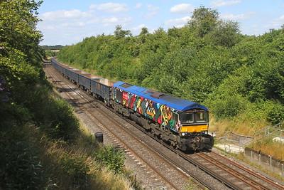 66718 Popham 22/07/20 4Y19 Mountfield to Southampton Western Docks