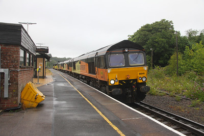 66849 Micheldever 27/07/20 0Y69 Hoo Junction to Eastleigh with 66850, 66847, 70816 and 70809