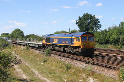 66770 Worting Junction 20/07/20 on the rear of 6X24 Derby Litchurch Lane to Eastleigh