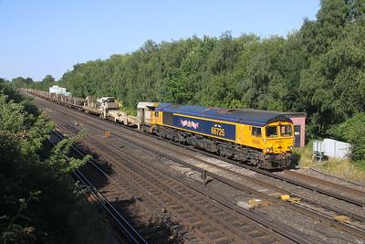 66725 Worting Junction 31/07/20 6Y48 Eastleigh to Hoo Junction