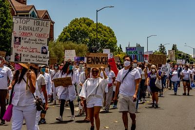 Drum Led Silent March Santa Rosa   Bill Clark-33