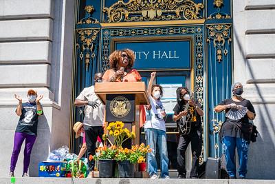 George Floyd Memorial - SF City Hall - Steve Disenhof
