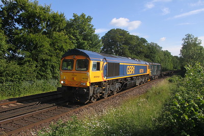 66769 Micheldever 15/06/20 6E65 Eastleigh to Peterborough with 73968