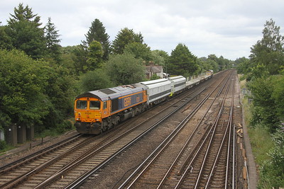66775 Worting Junction 28/06/20 on the rear of 6Z15 Eastleigh to Chaddesden Sidings