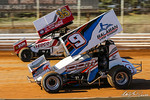 dirt track racing image - Lincoln Speedway - 35 Zach Hampton, 9D Dalton Dietrich