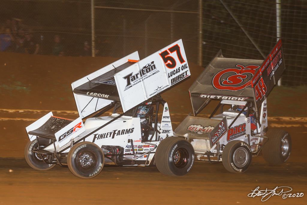 Kevin Gobrecht Memorial - 2020 Pennsylvania Sprint Car Speed Week presented by Red Robin - Lincoln Speedway - 57 Kyle Larson, 48 Danny Dietrich