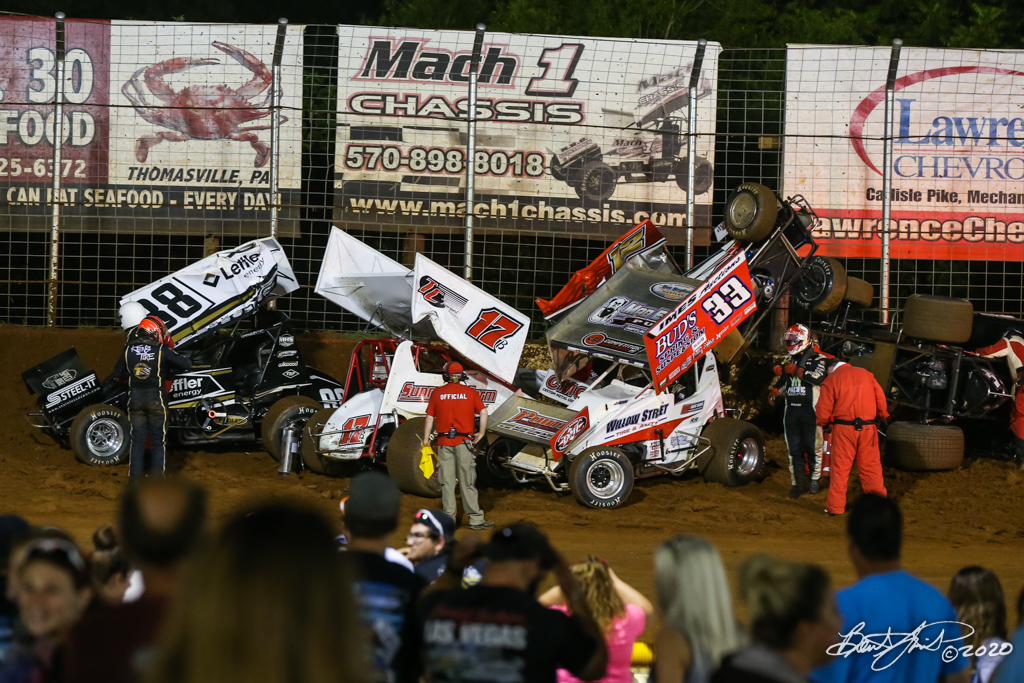 Kevin Gobrecht Memorial - 2020 Pennsylvania Sprint Car Speed Week presented by Red Robin - Lincoln Speedway - 88 Brandon Rahmer, 17B Steve Buckwalter, 33 Jared Esh