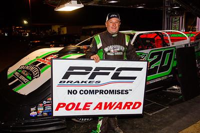 PFC Brakes Pole Award winner Jimmy Owens