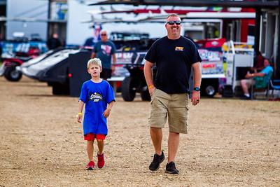 Morgan Bagley and son