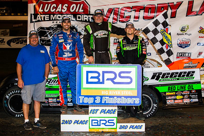 Scott Coleman, (L), Josh Richards (L), Jimmy Owens (C) and Tyler Erb (R)