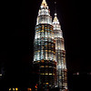 Petronas Twin Towers from the rooftop deck of our condo