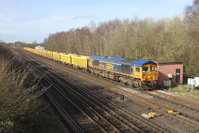 66778 Worting Junction 20/03/20 6M26 Eastleigh to Mountsorrel