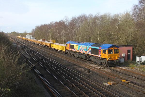 66720 Worting Junction 20/03/20 6Y48 Eastleigh to Hoo Junction