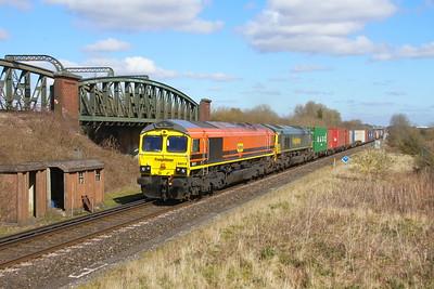 66419 Battledown 16/03/20 4O90 Leeds to Southampton with 66550