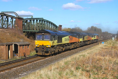66847 Battledown 16/03/20 0Y69 Hoo Junction to Eastleigh with 66848 and 66850