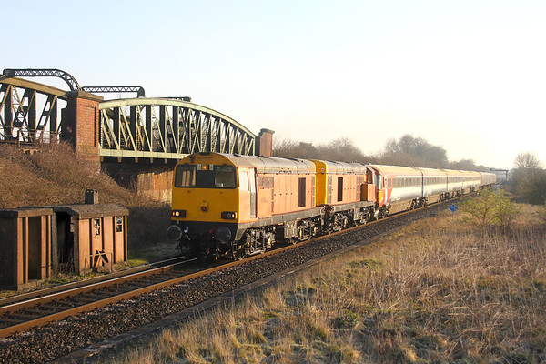 20314 Battledown 24/03/20 5Q42 Ely Papworth Sidings to Eastleigh with 20311 and 2401